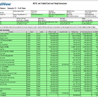 AFE vs. Field Estimate vs. Final Invoice